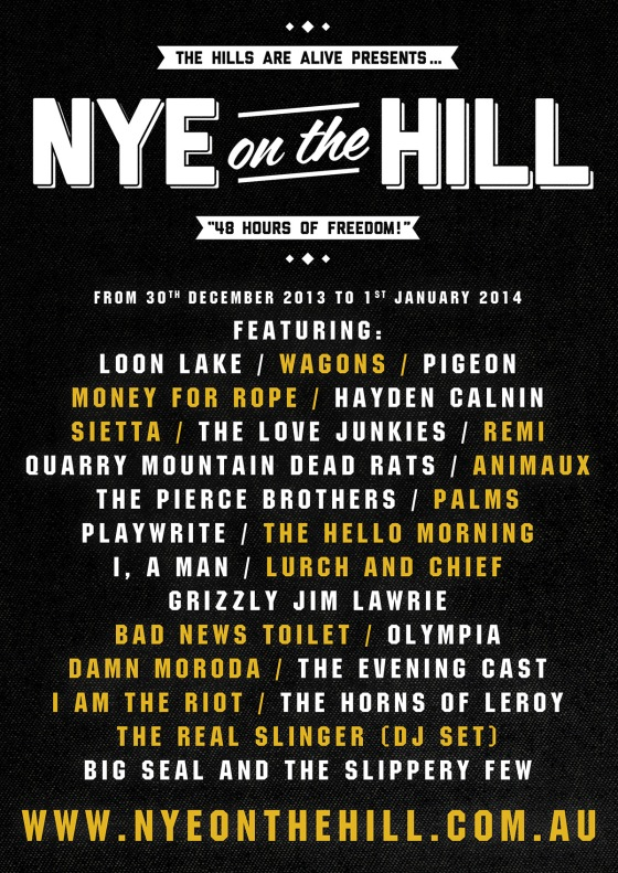 NYE ON THE HILL FESTIVAL // Tickets almost sold out!